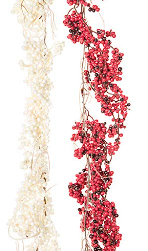- Darice Mixed Berry Garland 6 feet