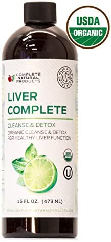 Liver Complete 16oz - Organic Liquid Liver Cleanse Detox Supplement for High Enzymes, Fatty Liver, The Gallbladder