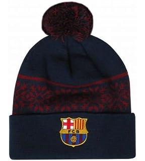 10acbedb53b Amazon.com   FC Barcelona Reversible Knitted Hat - Barca Beanie ...