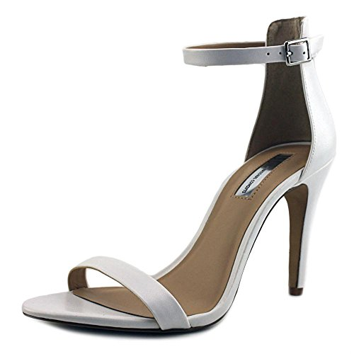 INC International Concepts Roriee Damen Breit Leder Sandale Bright White