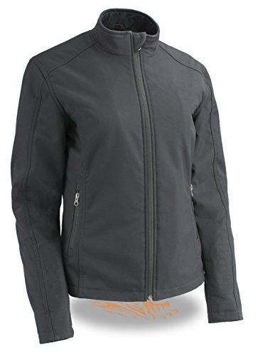 Milwaukee Performance Women's Waterproof Lightweight Zipper Front Soft Shell Jacket Purple Medium
