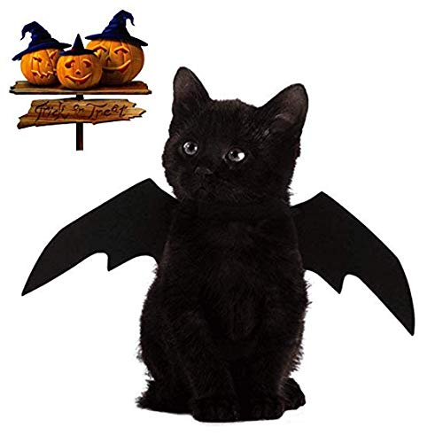 KOERR Halloween Cat Costume Cats Dogs Pet Bat Wings