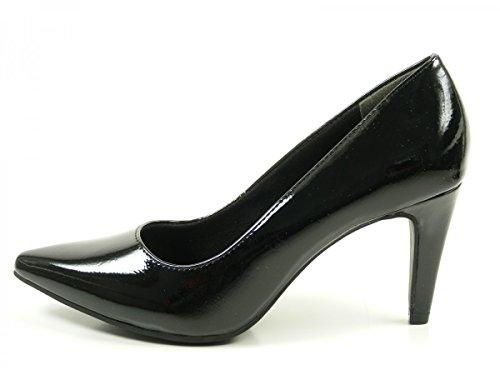 Patent 22447 alto de 29 Tamaris Black mujer 1 zapatos tacón para Negro PYq6Hw5H
