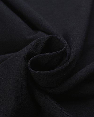 StyleDome Mujer Camiseta Playa Verano Encaje Blusa sin Mangas Cortas Cuello Pico con Tiras Negro 5