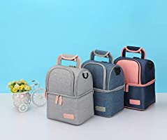 Meich Waterproof Breast Milk Baby Bottle Cooler Bag Portable Thermal Insulated Lunch Box//Large Capacity Handbag//Baby Milk Bag Freezer//for Work Mommy Women Men Kids XC01 Grey