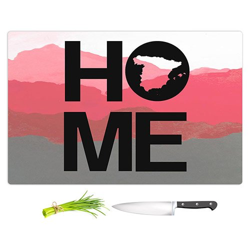 DiaNoche Designs Cutting Boards from DiaNoche Designs by Jackie Phillips - Home Spain Magenta Unique Kitchen Slicing Dicing Bar Artistic Decorative, Large 15'' x 11'', Not Applicable by DiaNoche Designs