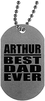 Arthur Best Dad Ever - Military Dog Tag Collar Colgante ...