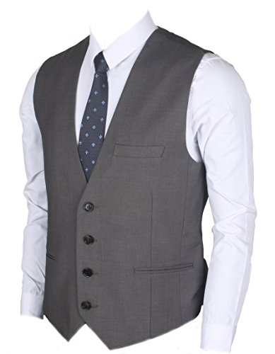 Ruth&Boaz Men's 3Pockets 4Button Business Suit Vest for sale  Delivered anywhere in USA