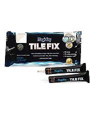 MagicEzy Tegel Reparatie Kit – Tegel Touch-Up Kit - Vullingen en Kleuren Gesnipte Keramische Tegels Snel. Beige and White Kit