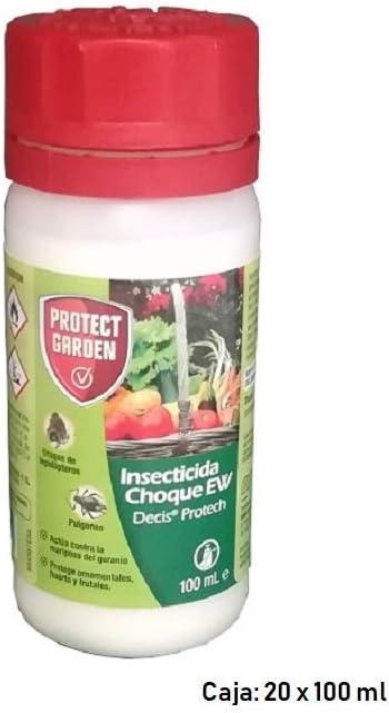 BAYER CROPSCIENCE S.L. Insecticida Choque EW Decis Protech Protección Ornamentales, Huertos y Frutales - Caja 20 x 100 ml