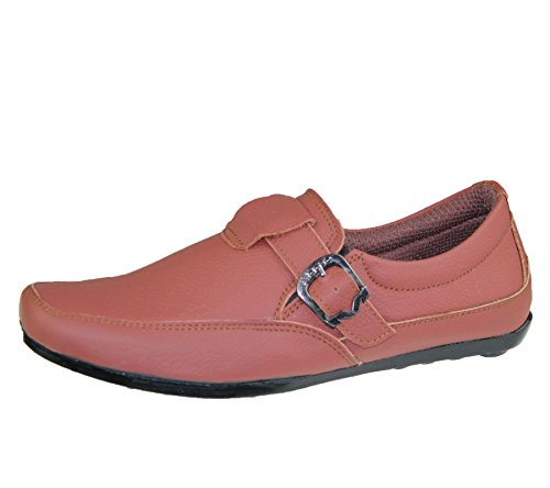 Mens Slip On Casual Shoes Deck Loafers Smart Walking Comfort Driving Smart Boots Maroon zAoaxV