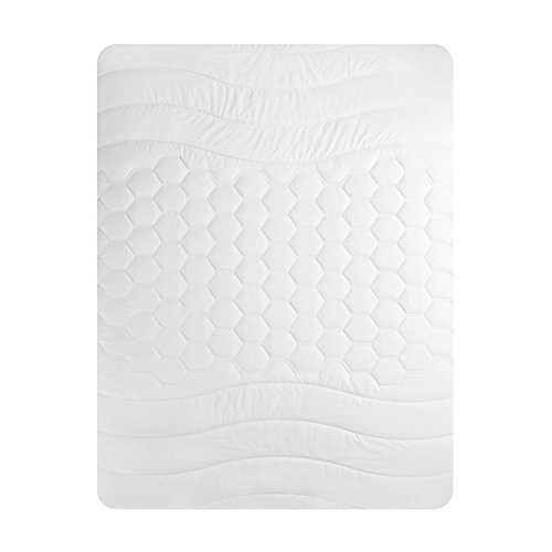Quilted Mattress Pad Hypoallergenic Antibacterial Breathable Overfilled Mattress Cover Microplush Mattress Topper King Size by Bedsure