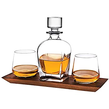 8.4 Ounces. JoyJolt Carina 5-Piece Crystal Whiskey Decanter Set,100/% Lead-Free Crystal Bar Set Crystal Decanter Set Comes With A Scotch Decanter-25.3 Oz And A Set Of 4 Old Fashioned Whiskey Glasses