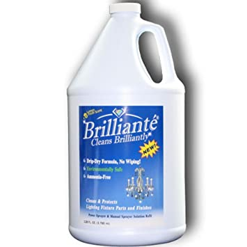 Amazon brilliante crystal chandelier cleaner 1 gallon refill brilliante crystal chandelier cleaner 1 gallon refill environmentally safe ammonia free drip mozeypictures Choice Image
