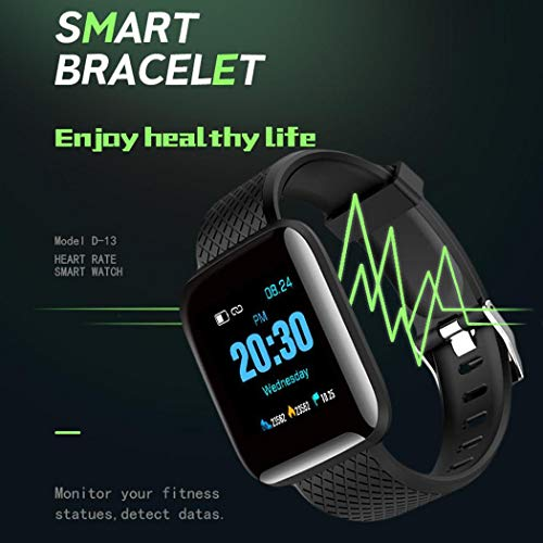Qiopes Wasserdichtes Bluetooth-Sport-Smart-Armband-Armband Fitness-Tracker Smartwatches