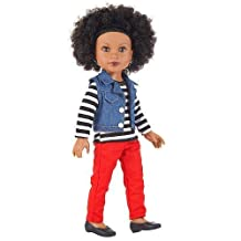 Journey Girls 18 inch London Doll - Chavonne (Striped Shirt with Vest and Red Pants) by Journey Girls