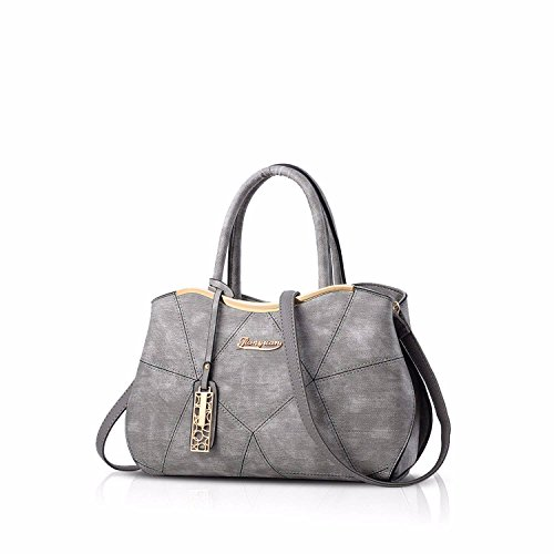 Gxinyanlong borsa da donna in pelle PU borsa da donna borsa Lady Evening Bags, Nero gray