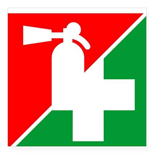 cafepress-fire-ext-1st-aid-image-square-sticker-3-square-bumper-sticker-car-decal-3x3-small-or-5x5-l
