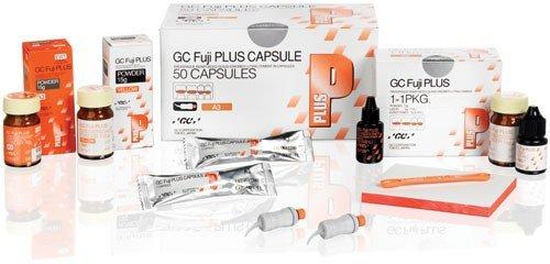 GC 442135 Fuji Plus Ionomer Luting Cement Kit, 15 g Powder and 7 mL Liquid