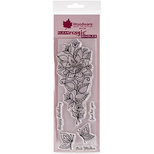 """Woodware Clear Stamps 3""""X7.5"""" Sheet-Persion Flower"""