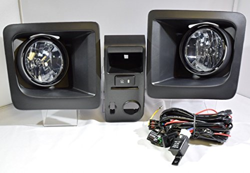 MBAUTO 2014 2015 2016 GMC SIERRA 1500 SMOKED TINTED Fog Light Kit Clear Driving Lamp Kit Replacment 81220-08010 81210-08010