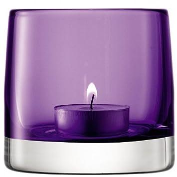 achat original magasiner pour les plus récents grande collection Couleur de la lumière Photophore en verre - Violet, 8.5 cm ...