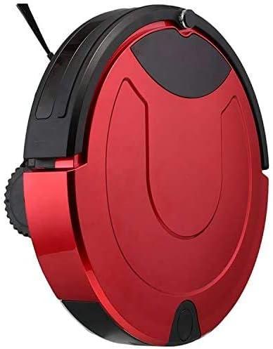 HWGNT Robot De Balayage Intelligent Aspirateur Écran Tactile avec Télécommande Robot De Balayage Domestique (Noir) (Couleur: Rouge) Red