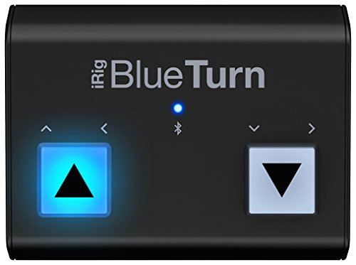 Turner Music - IK Multimedia iRig BlueTurn wireless page turner for smartphones and tablets
