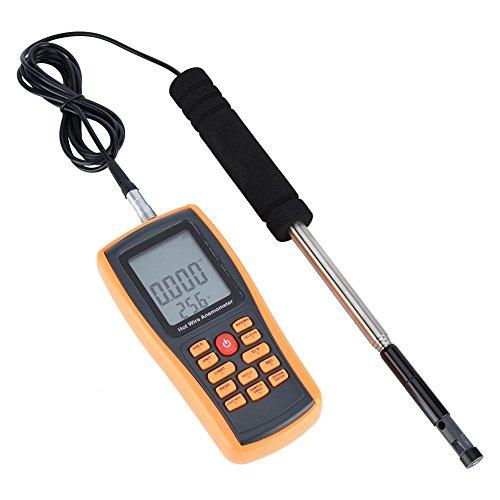 Anemómetro digital LCD Portátil Digital Calor del viento Velocidad del viento Calibrador de la temperatura Anemómetro...