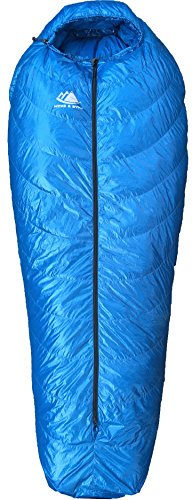 Hyke Byke Crestone Hammock Compatible Down Sleeping Bag 0 Degree F Bag For Hammock Or Ground Camping And Backpacking Innovative Design Combines Underquilt And Top Quilt