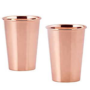 Old Dutch Solid Flared Tumblers, 12 Oz., Copper, Set of 2