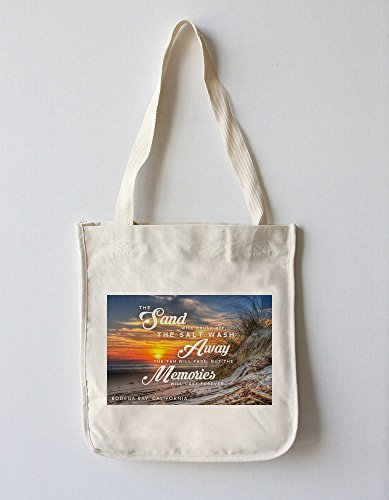 Bodega Bay, California - Sunset - Beach Sentiment (100% Cotton Tote Bag - Reusable)