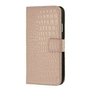 Cerhinu Crocodile Skin Luxury High Quality PU Leather Wallet Stand Case for Samsung Galaxy S4 I9500 (Pink)