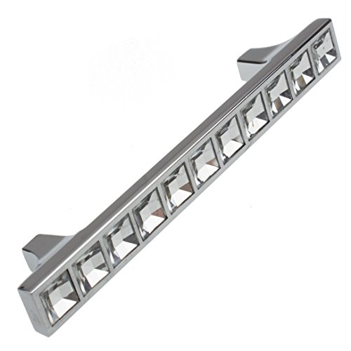 GlideRite Hardware 9052-96-CR-50 3.75'' CC K9 Crystal Cabinet Pulls, 50 Pack, Small, Clear by GlideRite Hardware (Image #1)