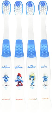 Brush Buddies Children's Toothbrush, The Smurfs, 4 Count (Pack of 6)