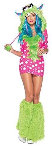 [GTH Women's Sexy Melody Monster Fairytale Theme Fancy Halloween Costume, X-Small (0-2)] (Melody Costume)