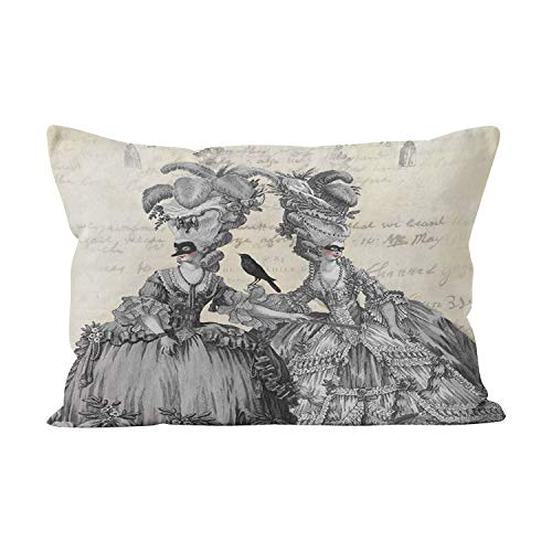 Gygarden Beauty The Halloween Ball Hidden Zipper Home Decorative Rectangle Throw Pillow Cover Cushion Case Boudoir 12x20 Inch One Side Design Printed Pillowcase