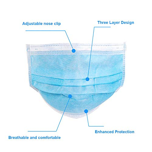 10 PCS Masks for dust protection,3-Ply Face Mask Antiviral Medical Masks Disposable Face Masks with Elastic Ear Loop Disposable Dust & Filter Safety Mask (10 pieces)