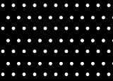 Rectangular Oilcloth PVC Wipe Clean Tablecloth 140cm x 180cm 55x70 Polka Dot (Black)