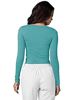 Adar Womens Comfort Long Sleeve T-shirt Underscrub Tee - 2900 - Aqm - S 4