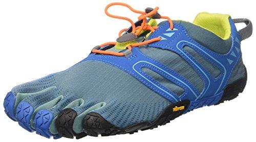 Vibram FiveFingers Men's V-Trail Barefoot Shoes Tapestry/Blue 45 (Best Vibram Five Fingers For Trail Running)