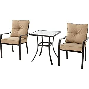 Mainstays Forest Hills 3-Piece Bistro Set, Tan