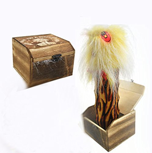 Prank Toys Harmless Best Prank Stuff Shocking Scary Surprise Wooden Box Toys for Halloween Electric Changeable April-Fools' Day Gift Decoration Party Stage Props by - April Fools Best Pranks Home