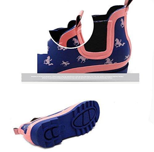 Pioggia Fashion 39 Da Da Stivali In Scarponi Donna Stivali Da Pioggia Short Da Esterno ZXCVBNM Gomma ECIBAwqxtI