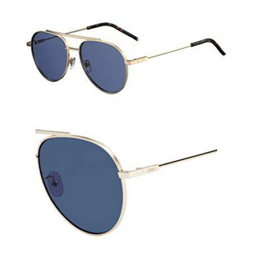 Sunglasses Fendi 222 /F/S 0000 Rose Gold / KU blue avio - Fendi F