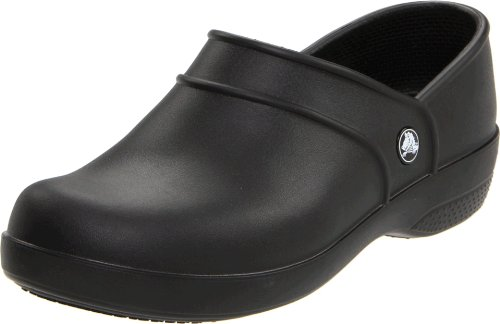 crocs Women's Neria Work Clog,Black,7 M US (Crock Womens Shoes compare prices)