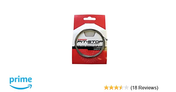 Sram Pitstop 1.1mm x 2200mm Single Shift Cable-Derailleur Wire-SS-Silver-New