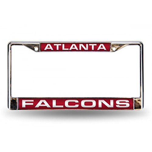 - Rico Industries NFL Atlanta Falcons Laser Cut Inlaid Standard Chrome License Plate Frame