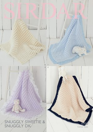 Sirdar Snuggly Sweetie 200g Knitting Pattern 4700 Blankets Amazon