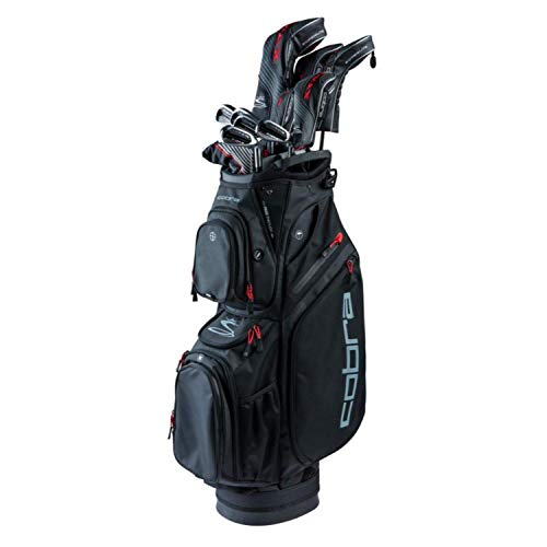 Cobra Golf 2019 F-Max Superlite Complete Set Black-Red (Men's, Right Hand, Graphite, Senior Flex, 11.5, 3W, 5W, 4H, 5-PW, SW, Putter, Bag) (Best Iron Set For Beginners 2019)